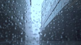 Rainy weather outside stock footage