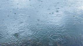 Raindrop falls on the surface water. Raindrop falls on the surface lake at daytime summertime Royalty Free Stock Photo