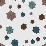 Rainy weather. Seamless pattern background umbrellas. Stock Images