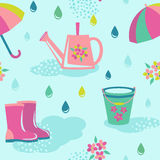 Rainy weather seamless pattern Royalty Free Stock Images