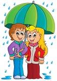 Rainy weather theme image 1 royalty free illustration