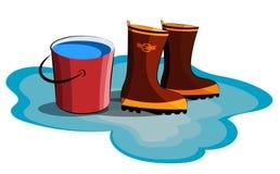Rainy weather vector illustration on white background Stock Image
