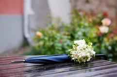 Rainy wedding Royalty Free Stock Images