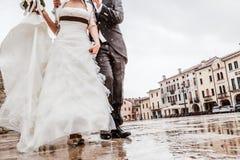 Rainy Wedding Day Royalty Free Stock Photography