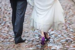 Rainy wedding day Stock Image