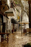 Rainy Wet Street Royalty Free Stock Photos