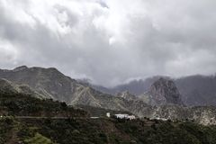 The volcanic mountains of the island La Gomera, part of the Canary islands Stock Photos