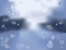 Rainy window. Vector picture of wet window with spots of light royalty free illustration