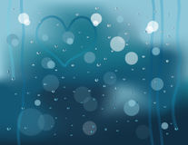 Rainy window background Stock Photos
