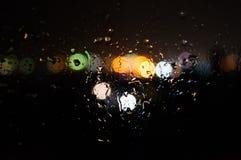 Bokeh. Rainy window bokeh Stock Photos