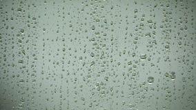 Rainy window surface stock video footage