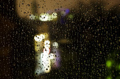Rainy window Royalty Free Stock Photos