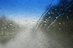 Rainy windshield Stock Photo