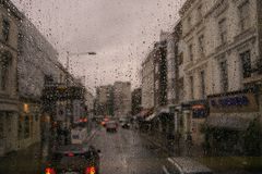 Rainy winter evening in London.United Kingdom royalty free stock photo