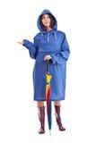 Rainy woman Royalty Free Stock Image
