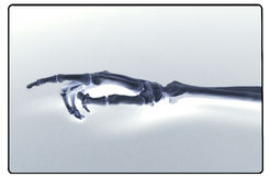 Raio X da mão e do antebraço humanos foto de stock