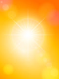Mancha solar e céu alaranjado Fotografia de Stock Royalty Free
