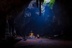 Raio de sol na caverna imagem de stock