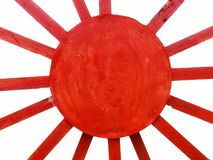 Raio diagonal vermelho na textura de madeira com fundos brancos imagem de stock