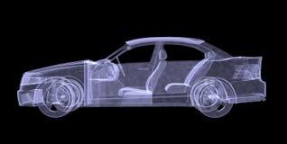 Raio X do carro ilustração do vetor