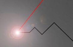 Raio laser Fotografia de Stock