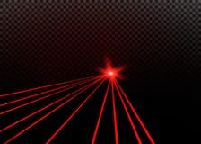 Raio laser vermelho abstrato Transparente isolado no fundo preto Ilustração do vetor Foto de Stock Royalty Free