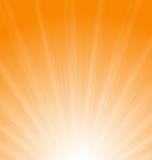 Raios alaranjados abstratos de Sun do fundo ilustração royalty free