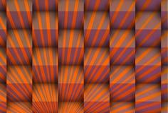 Raios alaranjados com cubos Imagem de Stock