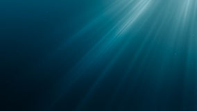 Raios claros de Sun sob a água 3D rendeu a ilustração ilustração stock