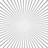 Raios da ilusão Ilustração do vetor Fundo retro do sunburst Elemento do projeto do Grunge Contexto preto e branco Bom para imagen Imagem de Stock