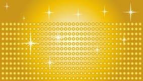 Raios de luz e estrelas, música e fundo sadio ilustração stock