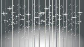 Raios de luz e estrelas, música e fundo sadio ilustração do vetor