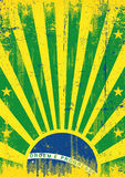 Raios de sol do vintage de Brasil Imagem de Stock Royalty Free