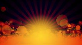 Raios de sol, fundo da laranja do sumário Imagens de Stock