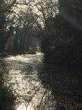 Raios de sol no canal Imagens de Stock