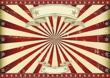 Raios de sol vermelhos do vintage da tela. Imagem de Stock