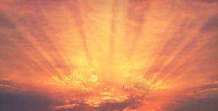 Raios do alvorecer do nascer do sol Fotos de Stock Royalty Free