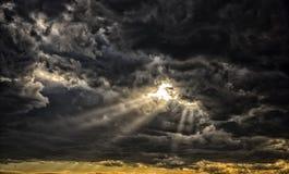Raios do deus de luz Fotos de Stock