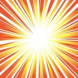 Raios do ` s de Sun ou fundo alaranjado da explosão para a velocidade de projeto, movimento ilustração royalty free