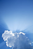 Raios do sol Imagens de Stock Royalty Free