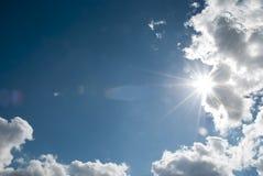Raios do sol Fotos de Stock Royalty Free