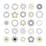 Raios e elementos do projeto do starburst Foto de Stock Royalty Free
