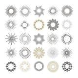Raios e elementos do projeto do starburst Foto de Stock