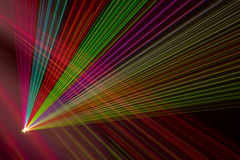 Raios laser da cor Fotos de Stock Royalty Free