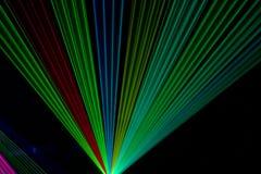 Raios laser da cor Imagem de Stock Royalty Free