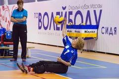 Raisa Moller (7) start the attack Stock Photos