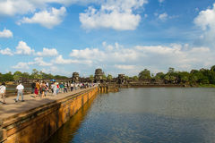 Raise avenue to Angkor wat. Siem-reab, Cambodia:6 Dec 2013 Stock Image