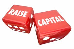 Raise Capital Take Chance Business Loan Investment Dice 3d Illus. Tration royalty free illustration