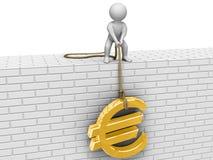 Raise euro! Royalty Free Stock Image