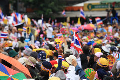 Raise fake clap hands and Thai flags Royalty Free Stock Photography